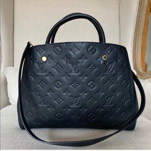 Louis Vuitton Montaigne Empreinte Leather MM, Noir